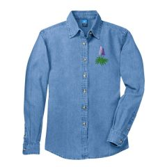 Ladies LS Denim Shirt with Lupines